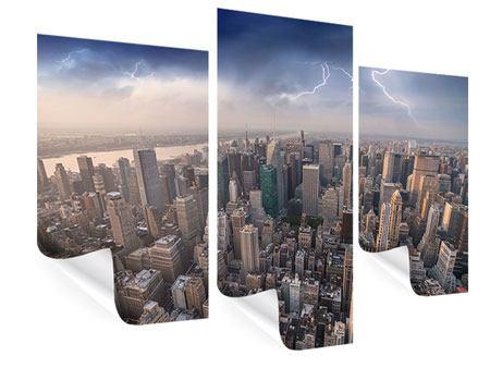 Poster 3-teilig modern Manhattan