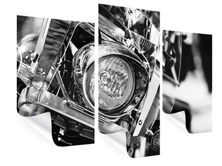 Poster 3-teilig modern Motorrad Close Up
