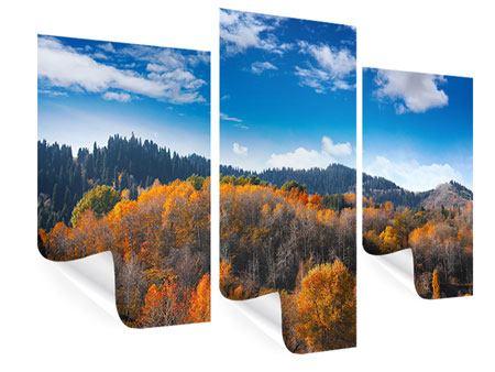 Poster 3-teilig modern Wolken ziehen auf