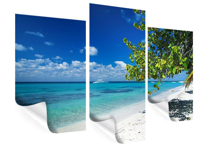 Poster 3-teilig modern Happy Beach
