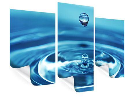 Poster 3-teilig modern Der Wassertropfen