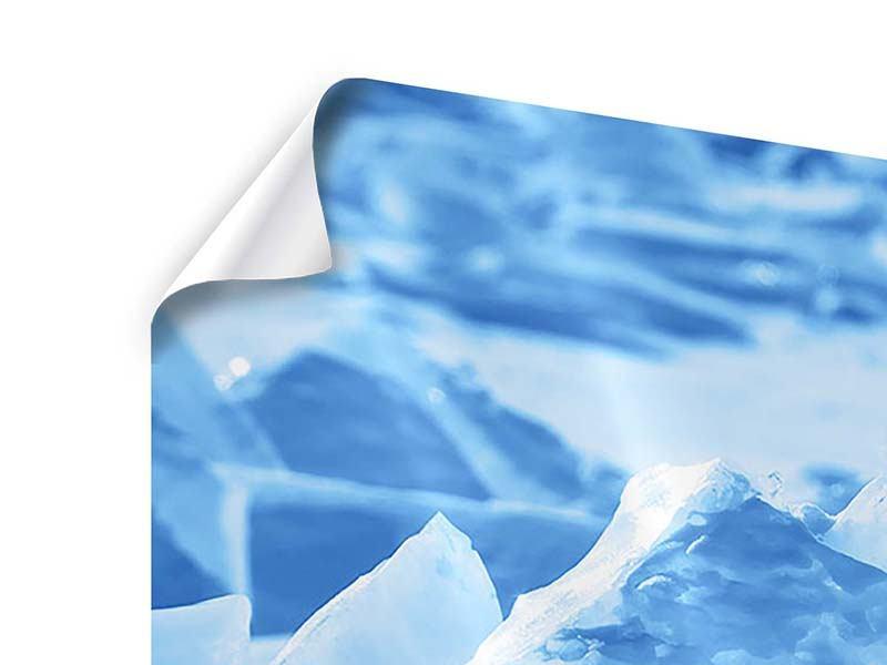 Poster 3-teilig modern Eis des Baikalsees
