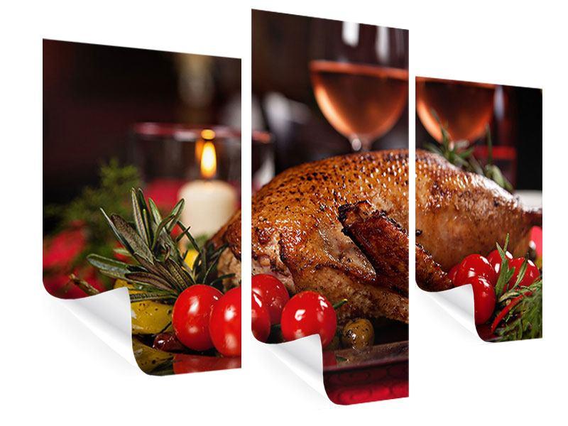 Poster 3-teilig modern Köstliches Geflügel
