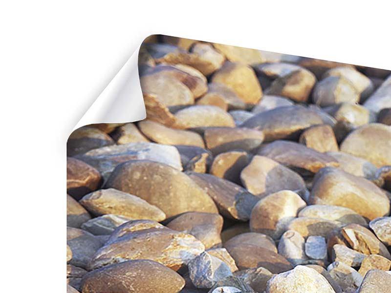 Poster 3-teilig modern Strandsteine