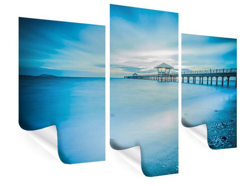 Poster 3-teilig modern Brückenimpression