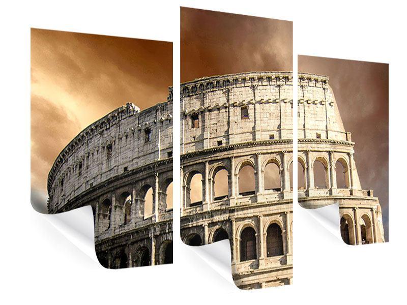 Poster 3-teilig modern Kolosseum Rom