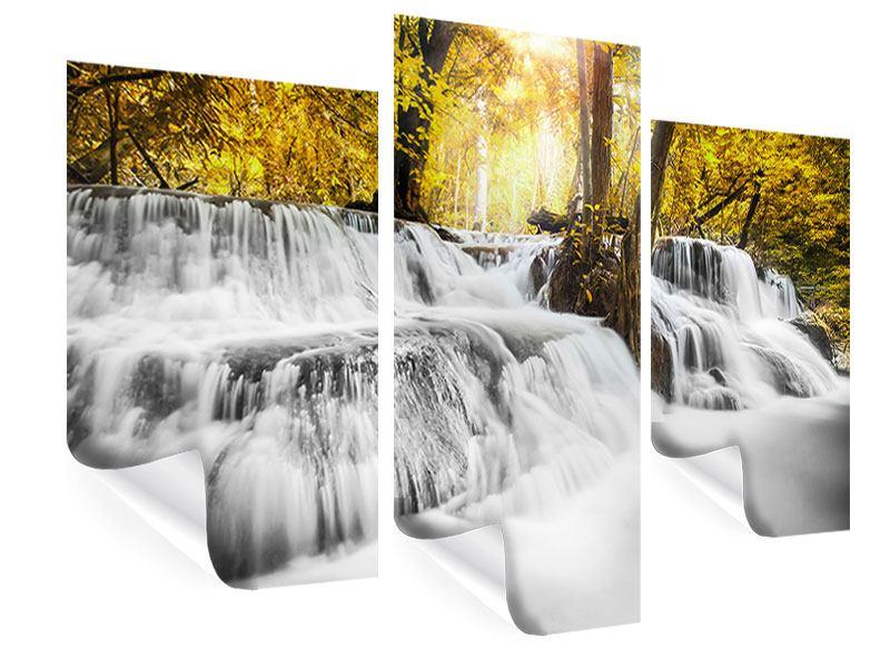 Poster 3-teilig modern Wasser in Aktion