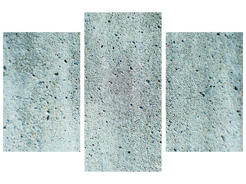 Poster 3-teilig modern Beton in Grau