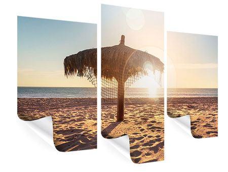 Poster 3-teilig modern Der Sonnenschirm