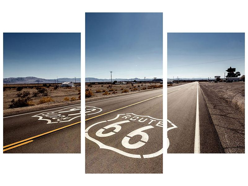 Poster 3-teilig modern Route 66