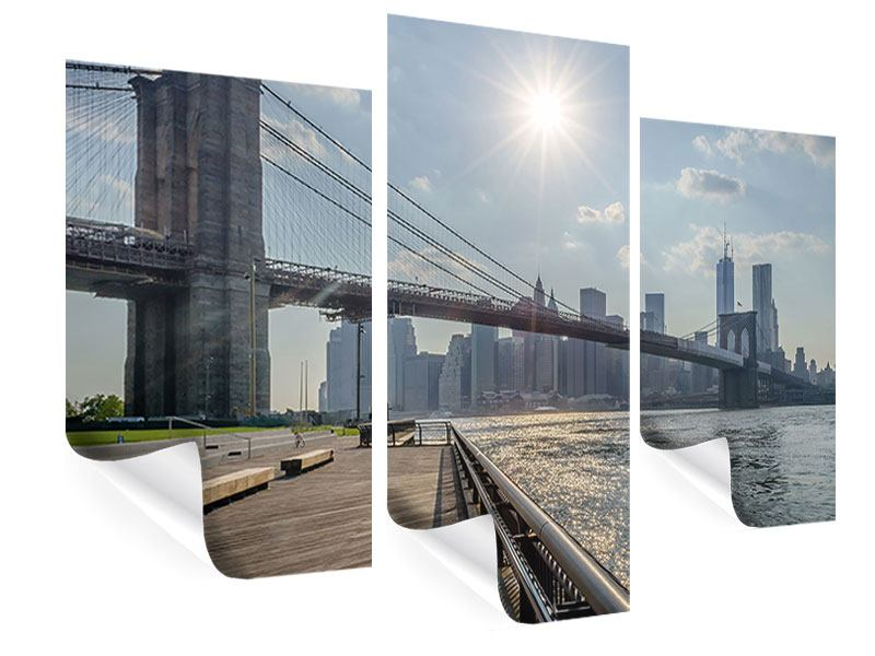 Poster 3-teilig modern Brooklyn Bridge