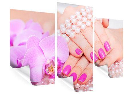 Poster 3-teilig modern Manikürte Hände