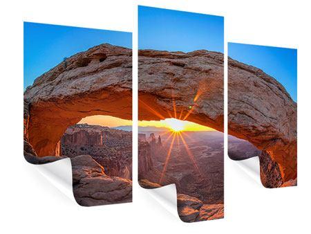 Poster 3-teilig modern Sonnenuntergang am Mesa Arch