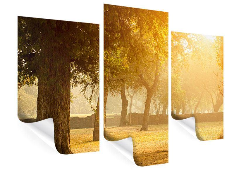 Poster 3-teilig modern Romantik unter Bäumen