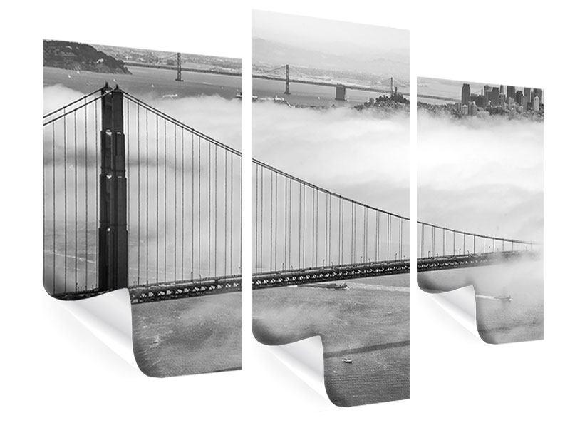 Poster 3-teilig modern Golden Gate Brücke