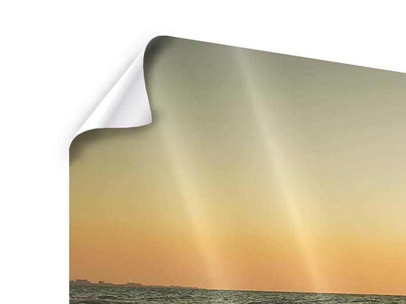 Poster 3-teilig modern Sonnenuntergang am Meer