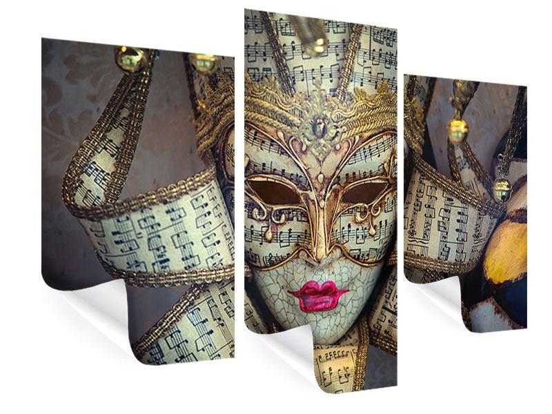 Poster 3-teilig modern Venezianische Maske