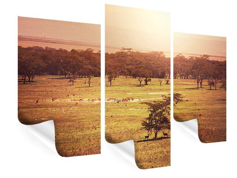 Poster 3-teilig modern Malerisches Afrika