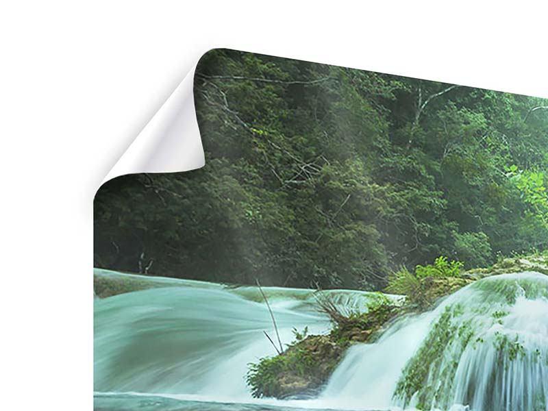 Poster 3-teilig modern Gigantischer Wasserfall
