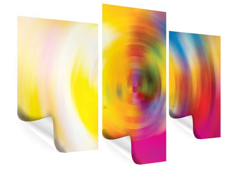 Poster 3-teilig modern Abstrakte Farbkreise