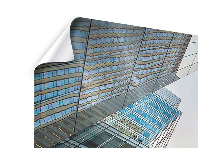 Poster 4-teilig modern Hochhäuser