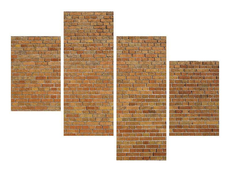 Poster 4-teilig modern Backsteinhintergrund