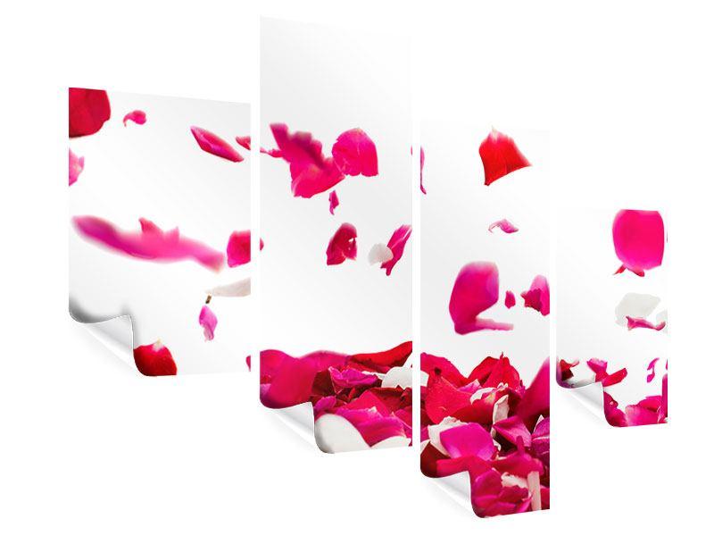 Poster 4-teilig modern Für mich soll`s rote Rosen regnen