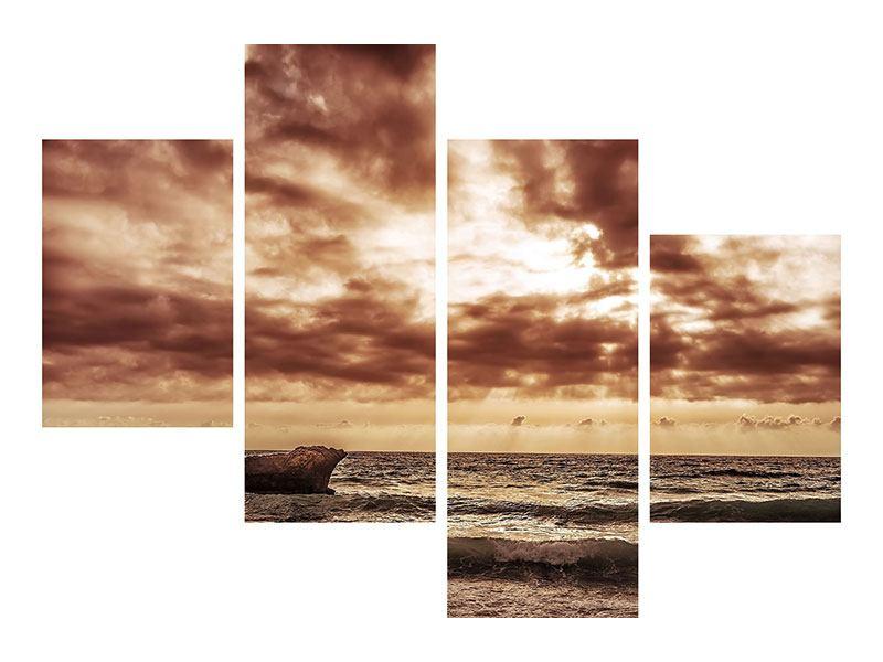 Poster 4-teilig modern Meeresrauschen