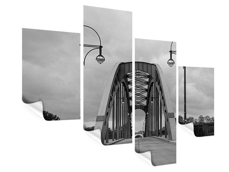 Poster 4-teilig modern Poetische Brücke