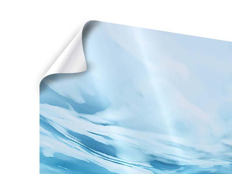 Poster 4-teilig modern Lichtspiegelungen unter Wasser