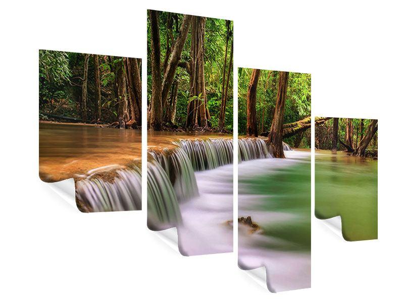 Poster 4-teilig modern Deep Forest