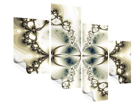 Poster 4-teilig modern Abstrakter Schmetterling
