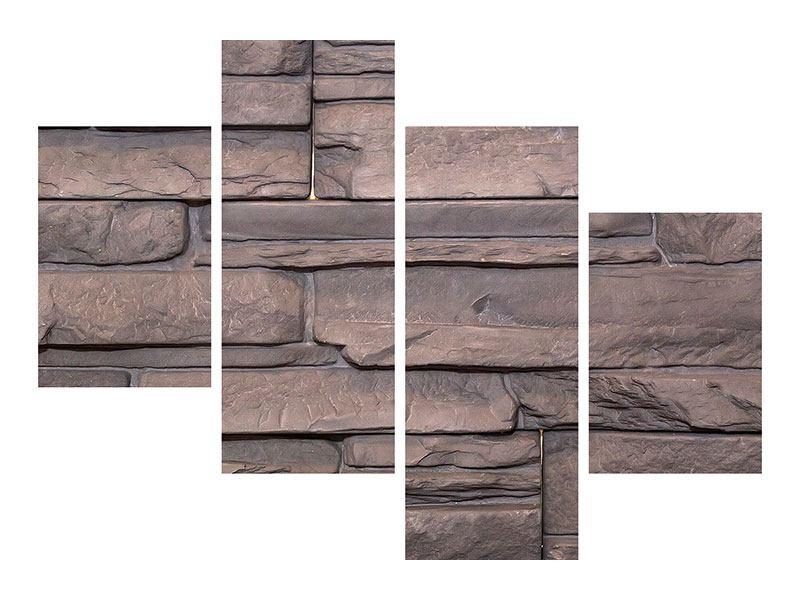 Poster 4-teilig modern Luxusmauer