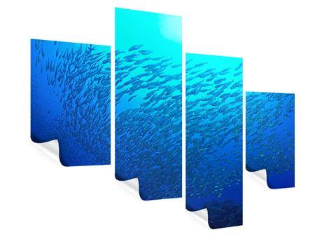 Poster 4-teilig modern Fischwelt