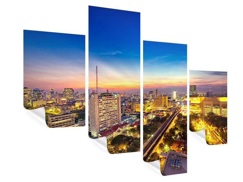 Poster 4-teilig modern Bangkok