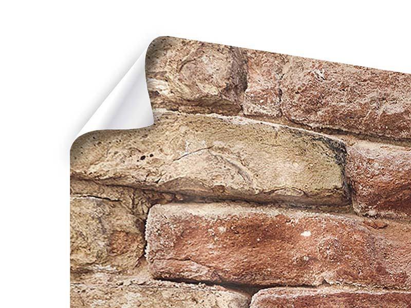 Poster 4-teilig modern Loft-Mauer