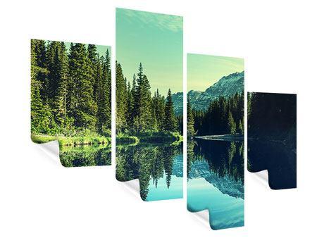 Poster 4-teilig modern Die Musik der Stille in den Bergen