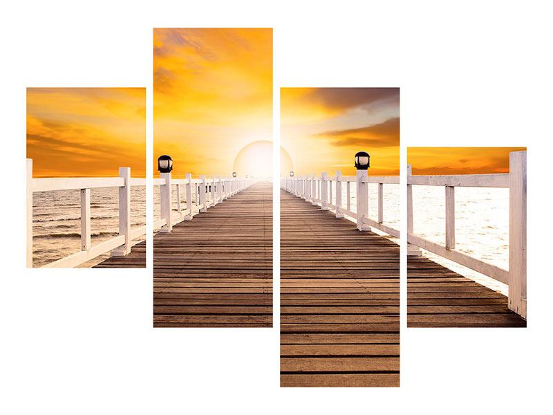 Poster 4-teilig modern Die Brücke Ins Glück