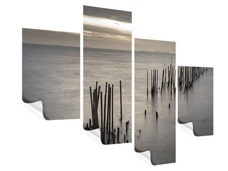 Poster 4-teilig modern Das Meer und die Träne