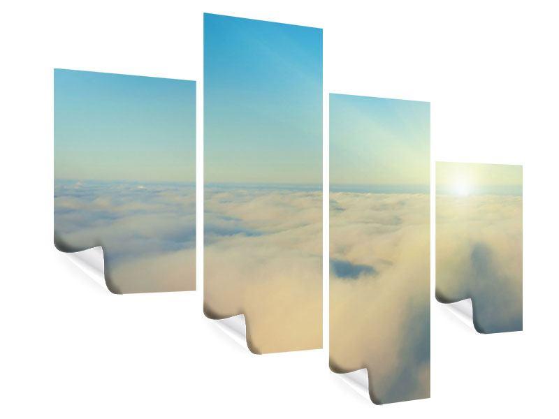 Poster 4-teilig modern Dämmerung über den Wolken
