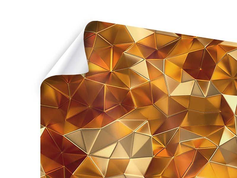 Poster 4-teilig modern 3D-Bernsteine