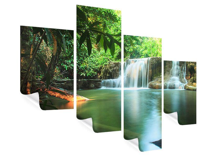 Poster 4-teilig modern Element Wasser