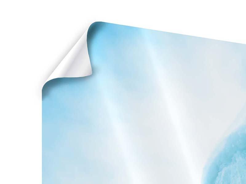 Poster 4-teilig modern Die Eiswand