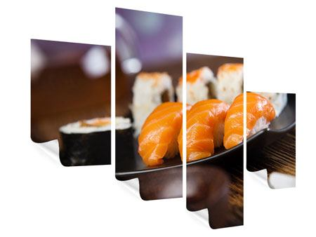 Poster 4-teilig modern Sushi-Gericht