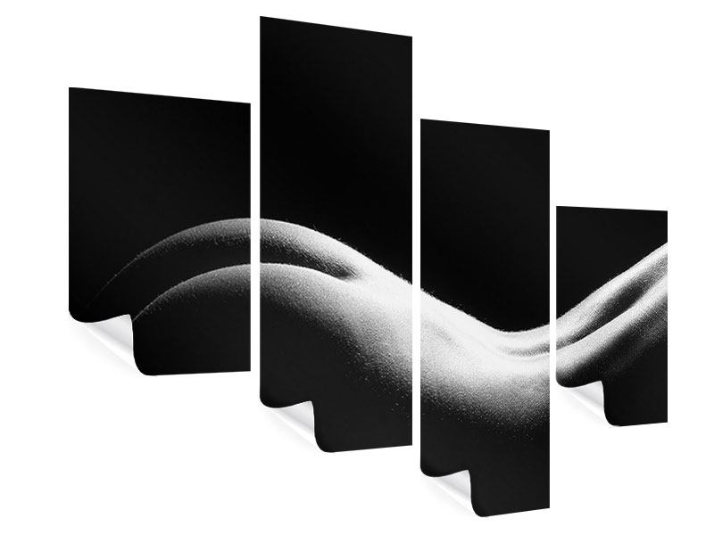 Poster 4-teilig modern Nude