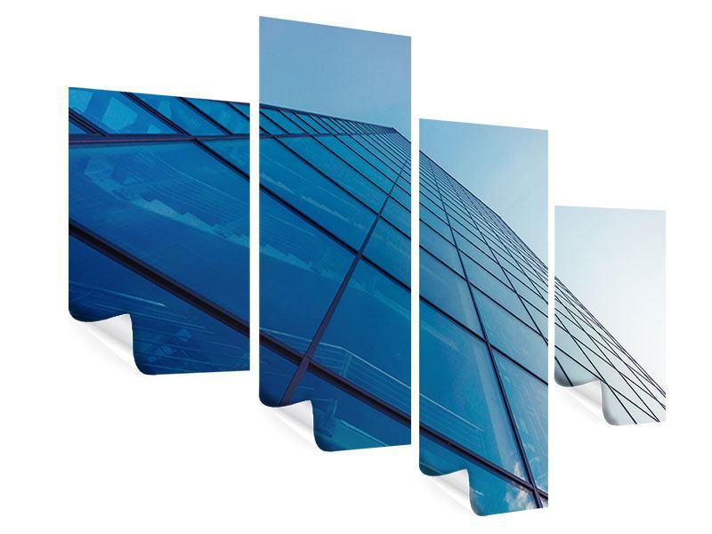 Poster 4-teilig modern Wolkenkratzer-Highlight