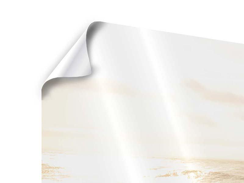 Poster 4-teilig modern Meeresbrandung