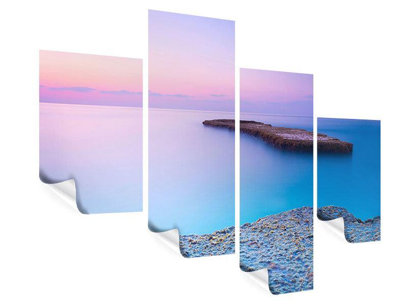 Poster 4-teilig modern Unendlicher Ozean