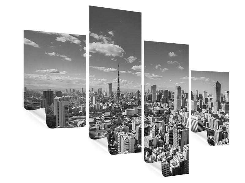 Poster 4-teilig modern Tokio