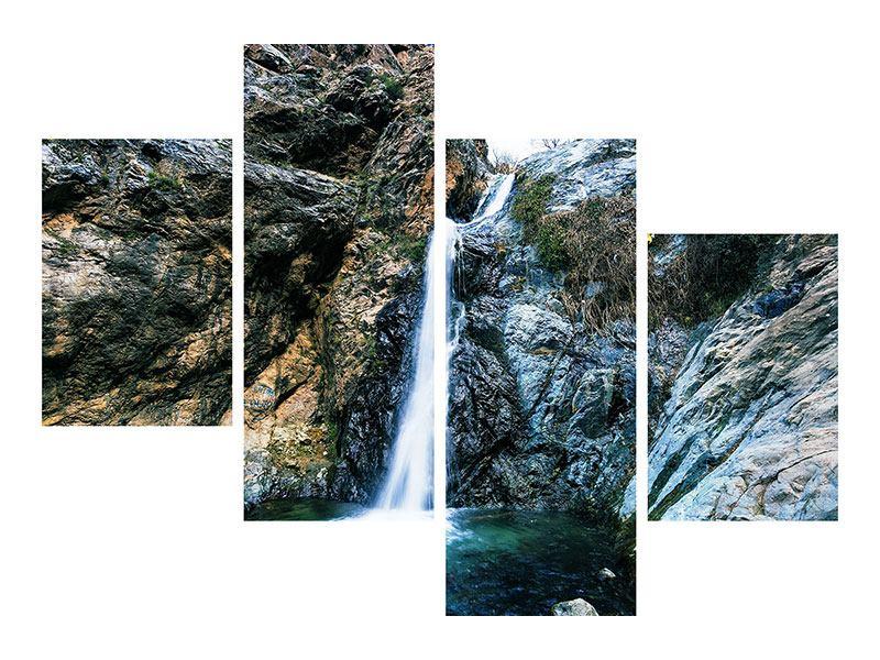 Poster 4-teilig modern Bewegtes Wasser